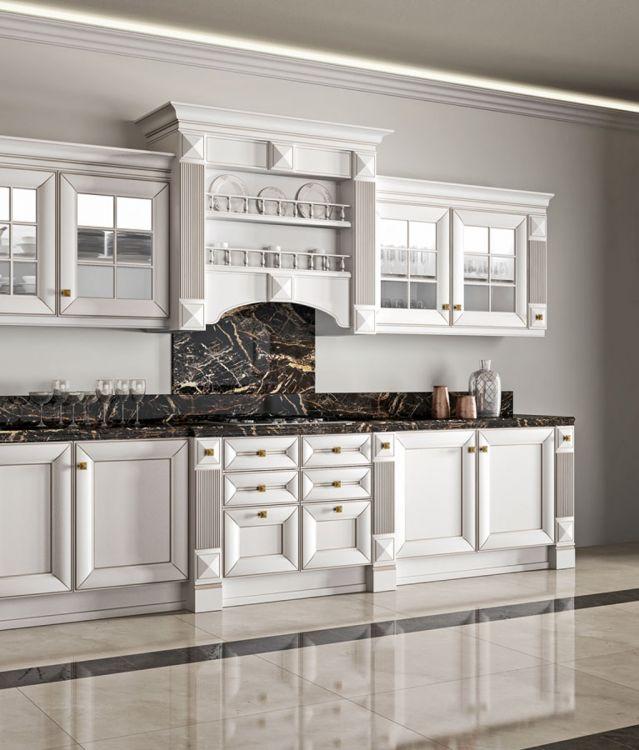 ντουλαπια κουζινασ λευκά