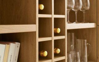 ραφιέρα ξύλινη για κρασιά