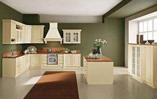 κουζίνα με καμινάδα Ιταλική και σκαλιστές λεπτομέρειες
